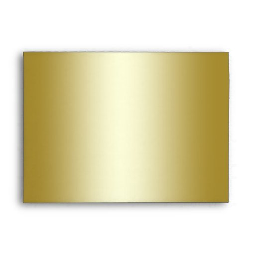 Gold Glitter Floral Envelope for 5x7 Size Products