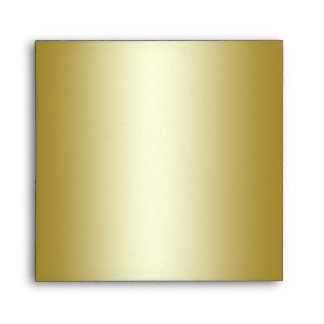 Gold Glitter Floral Envelope for Square Invitation