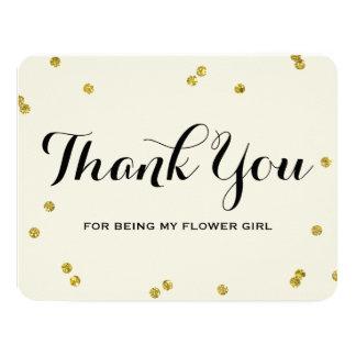 Gold Glitter | Flower Girl Thank You Cards