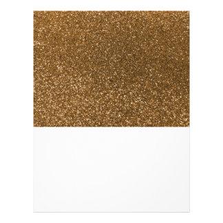 Gold glitter flyer