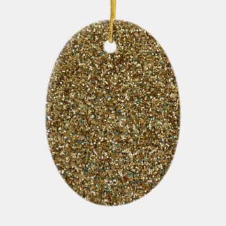 GOLD GLITTER ~ for Holidays or Every Day! Ceramic Ornament