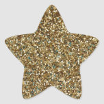 GOLD GLITTER ~ for Holidays or Every Day! Star Sticker