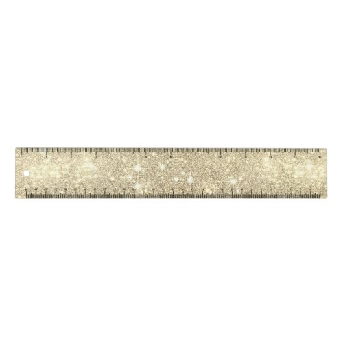 Gold Glitter Galaxy Faux Space Sparkle Ruler