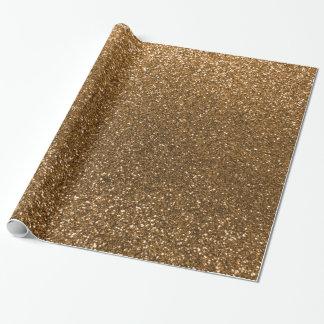 Gold glitter gift wrap paper