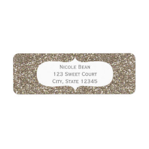 glamour birthday return address labels zazzle