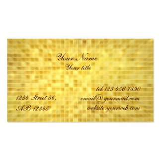 Gold Glitter Glamour Business Card