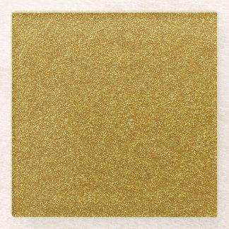 Gold Glitter Glass Coaster