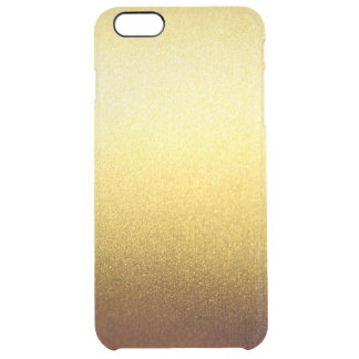 Gold Glitter Gradient Ombre Pattern Transparent Uncommon Clearly™ Deflector iPhone 6 Plus Case