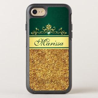 Gold Glitter Green Stylish OtterBox iPhone 7 Case