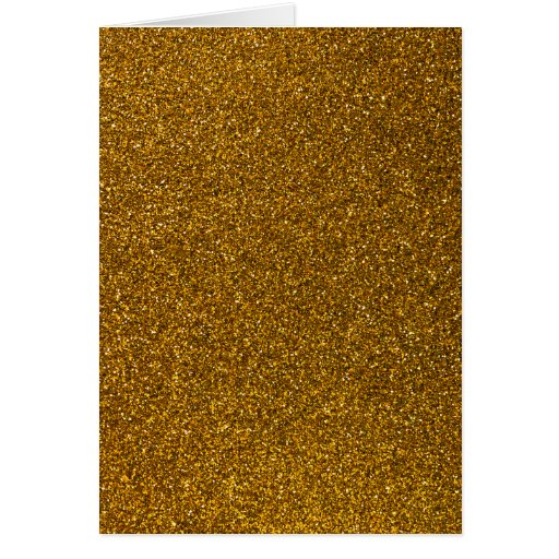 Gold Glitter Greeting Card