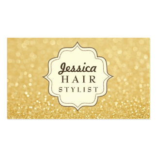 Gold Glitter Hair Stylist Appointment Cards