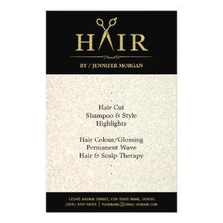 Gold Glitter Hair Stylist Salon Scissors Flyer