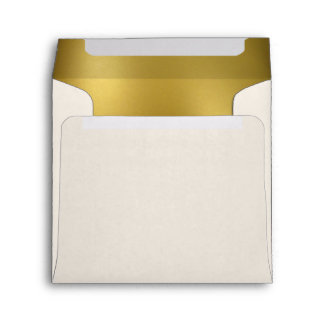 Gold Glitter Heart Wedding Envelope