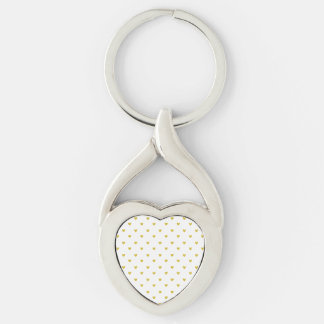 Gold Glitter Hearts Pattern Keychain