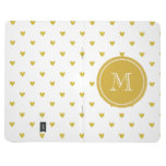 Gold Glitter Hearts with Monogram Journals