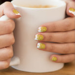 Gold Glitter Hearts with Monogram Minx ® Nail Wraps