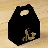 Gold Glitter High Heel Shoe Favor Box