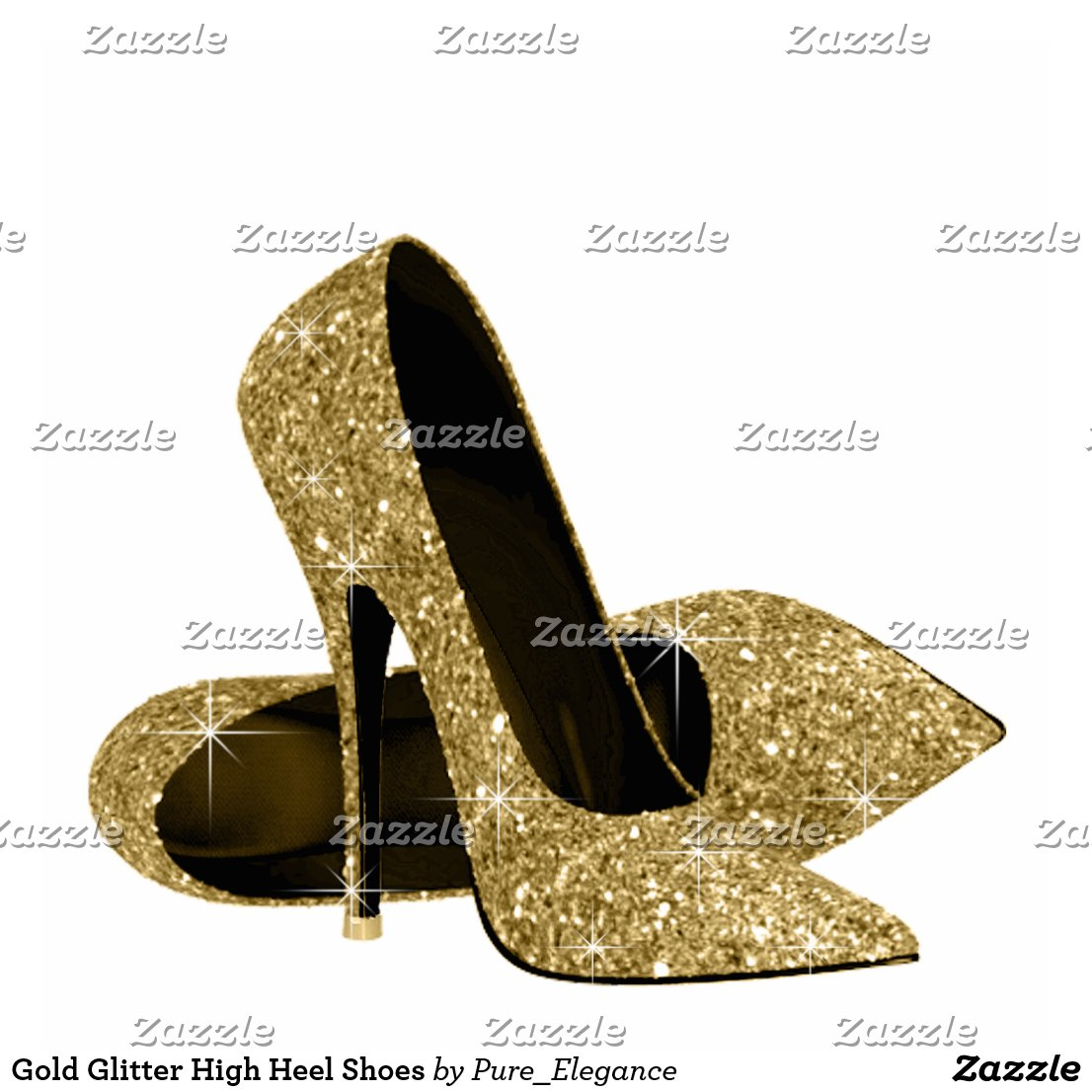Gold High Heel Shoes For Wedding