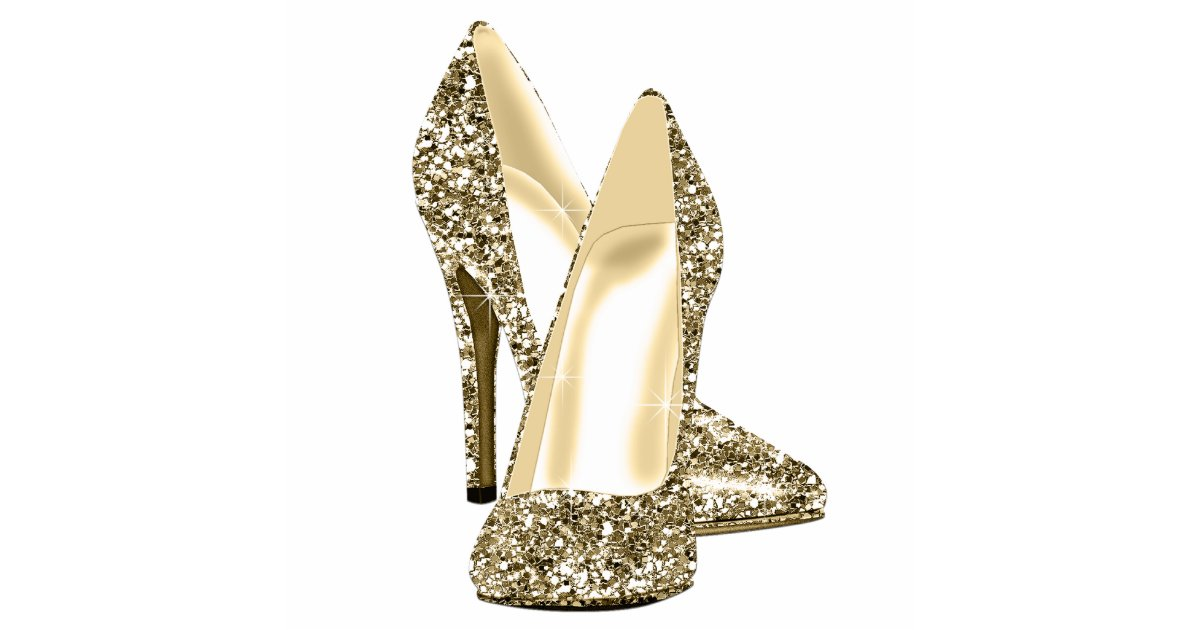 0995f99e9bc4 Gold Glitter High Heel Shoes Statuette