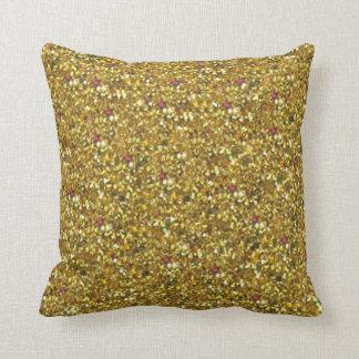 Gold Glitter Holiday American MoJo Pillows