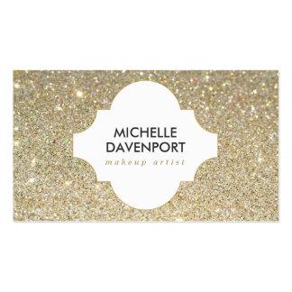 GOLD GLITTER II BEAUTY, MAKEUP ARTIST, SALON Double-Sided STANDARD BUSINESS CARDS (Pack OF 100)