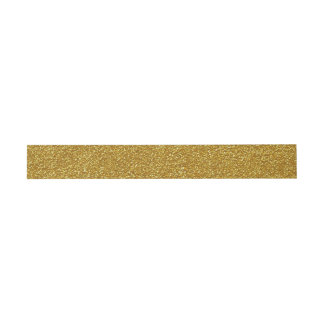 Gold Glitter Invitation Belly Band