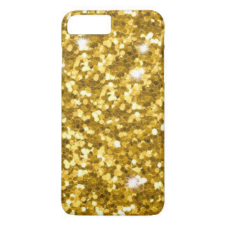 Gold Glitter iPhone 7 Plus Barely There Case
