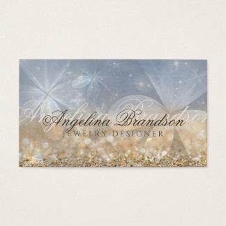 Gold Glitter Jewelry Designer Mystical Flower Card