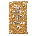 Gold Glitter Keep Calm & Sparkle Ipad Mini case