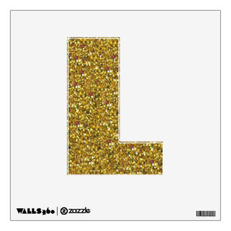 Gold Glitter L Wall Decal