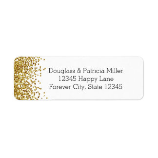 Gold Glitter Label