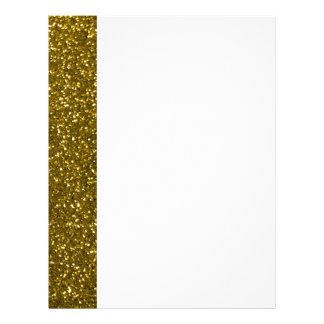 Gold Glitter Personalized Letterhead