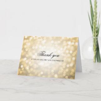 Gold Glitter Lights Thank You Bridesmaid