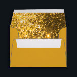 """Gold Glitter Lined on Gold Envelope<br><div class=""""desc"""">Glitter Envelopes. 100% Customizable. Ready to Fill in the box(es) or Click on the CUSTOMIZE button to add, move, delete or change any of the text or graphics. Made with high resolution vector and/or digital graphics for a professional print. NOTE: (THIS IS A PRINT. All zazzle product designs are &quot;prints&quot;...</div>"""