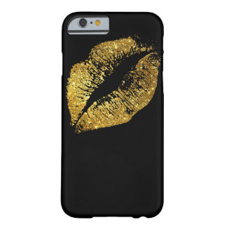Gold Glitter Lips #2 Barely There iPhone 6 Case