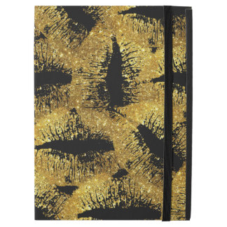 "Gold Glitter Lips #2 iPad Pro 12.9"" Case"