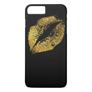 Gold Glitter Lips #3 iPhone 7 Plus Case