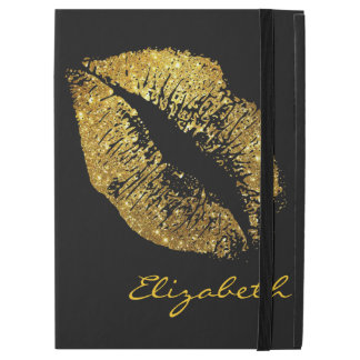 "Gold Glitter Lips iPad Pro 12.9"" Case"