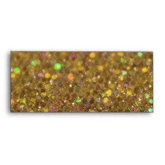 Gold Glitter Look Artwork Envelope