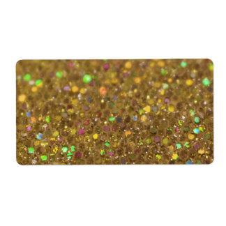 Gold Glitter Look Artwork Label