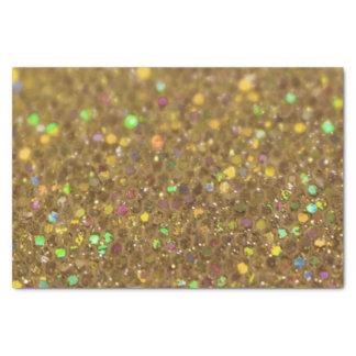 Gold Glitter Look Artwork Tissue Paper