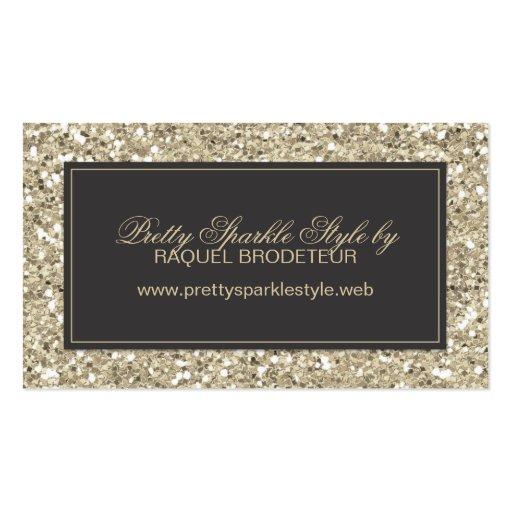 Gold Glitter Look Business Card