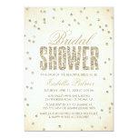 Gold Glitter Look Confetti Dots Bridal Shower Card