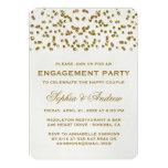 Gold Glitter Look Confetti Engagement Party Invite