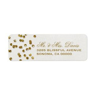 Gold Glitter Look Confetti Labels