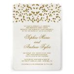 Gold Glitter Look Confetti Wedding Invitation