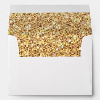 Gold Glitter Look Envelope