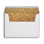 Gold Glitter Look Envelope