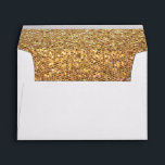 """Gold Glitter Look Envelope<br><div class=""""desc"""">A beautiful gold glitter look envelope. (Note: This is a graphic art print and contains no glitter).</div>"""