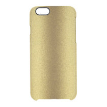 Gold Glitter Look iPhone 6 Deflector Case